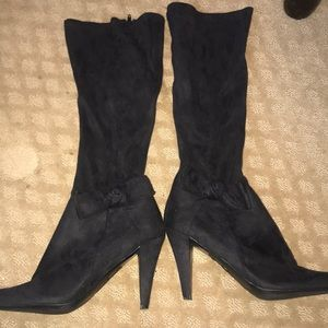 EUC Jessica Simpson black suede boots